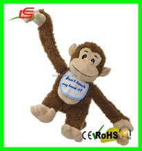 ICTI audited factory top quality plush monkey long arms hanging plush monkey