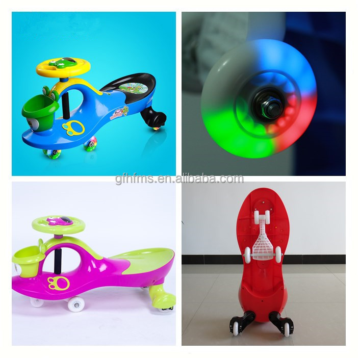 High Quality With Music Player PP Material PU Wheel Kid's Ride On Swing Car