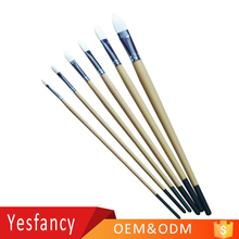 cheap price wood aluminum ferrule oil paint brush natural bristle brush