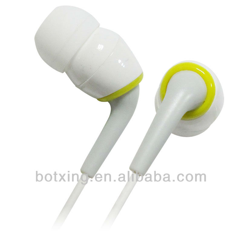 White funny earphones cool earbuds