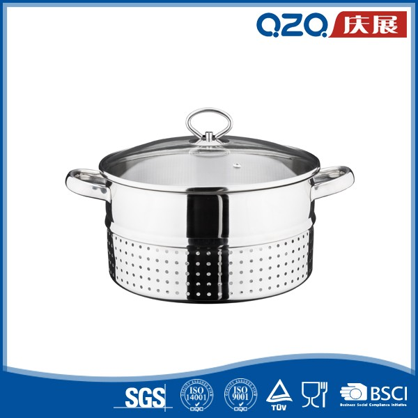 26cm stainless steel fruit steam silver juice pot