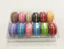 pet food grade custom macaron clamshell packaging for 12 cells