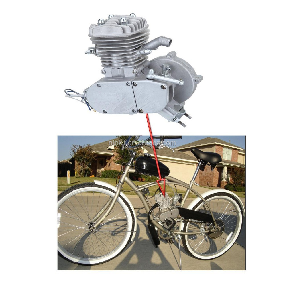 60cc silver black moped bicycle /bike gas engine kit 60cc / gas powered bicycles for sale
