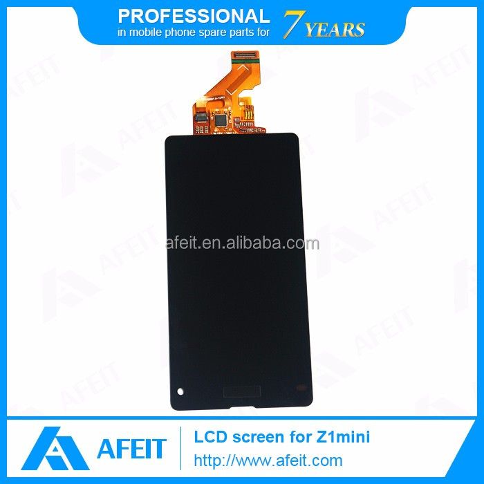 Hot Sale LCD Screen for sony Xperia Z1 Compact with AAA Quality Touch Digitizer Assembly Pantalla Black&White