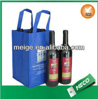 Promotional wine bag/Lates wine bag/2 bottles non woven wine bag