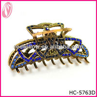 Large Elegant Diamond Hair Claw Clip Hair Pieces For Ladies
