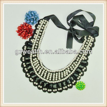 Fashion Dress Collar Neck Designs/pearl Collar With Acrylic For ...