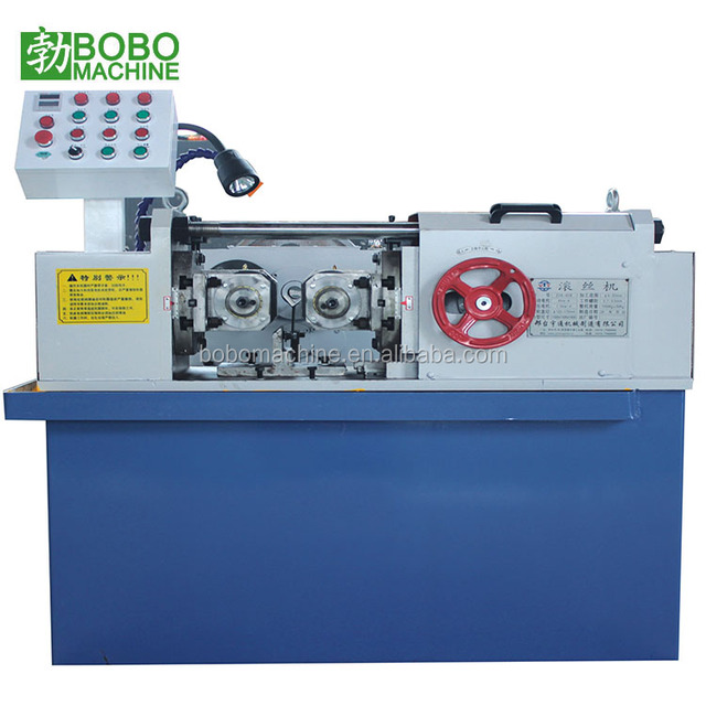 High speed solid bar thread rolling machine with thread roller