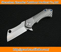 Model E Jungle Outdoor Knife D2 Knives Tactical Survival Tools with TC4 Titanium Handle Folding Pocket Knives 7213