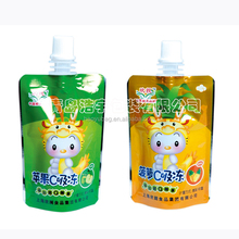 reusable food spout pouch,drink pouch with spout packaging,plastic frozen food pouch