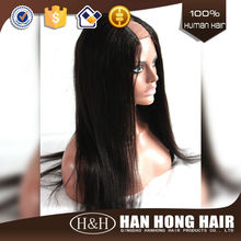unprocessed virgin indian hair cheap u part wigs Top quality natural straight indian virgin human hair u part wigs