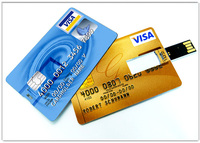 fashional credit card shape usb pen drive with cheap price