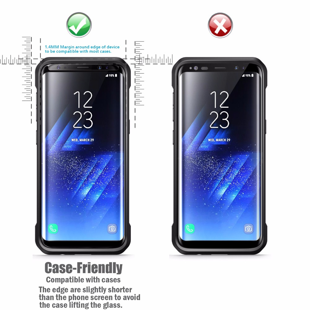 Galaxy S8 Protector Tempered Glass for Samsung Galaxy S8 3D Curved / Samsung galaxy S8 Plus Tempered glass screen protector