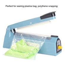 "Newest 7.5"" 190mm Impulse Heat Sealer 300W 220V-240V Handheld Hand Sealing Machine PP PE Manual Plastic Poly Bag Film Closer"