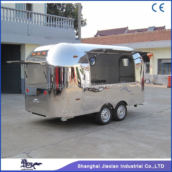 2017 Shanghai JX-BT400 customized mobile stainless steel food truck for vending