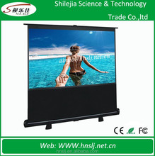 "Pull up Floor Stand 100"" 16:9 Projection Screen Portable Floor Standing Projector Screen"