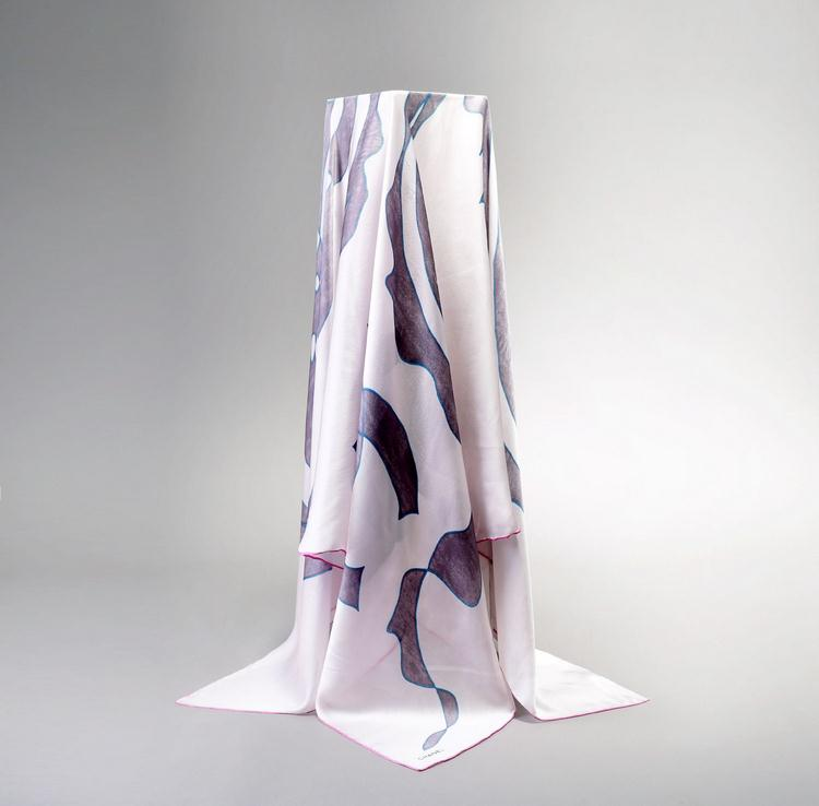 Japanese Custom Printed 100% Silk Scarves