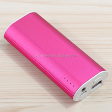 Aluminium alloy housing power bank 5000mah portable powerbank Charger for smartphone