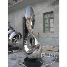 Large Size Metal Craft Outdoor Square Decoration Abstract Modern Art Outdoor Sculptures For Sale