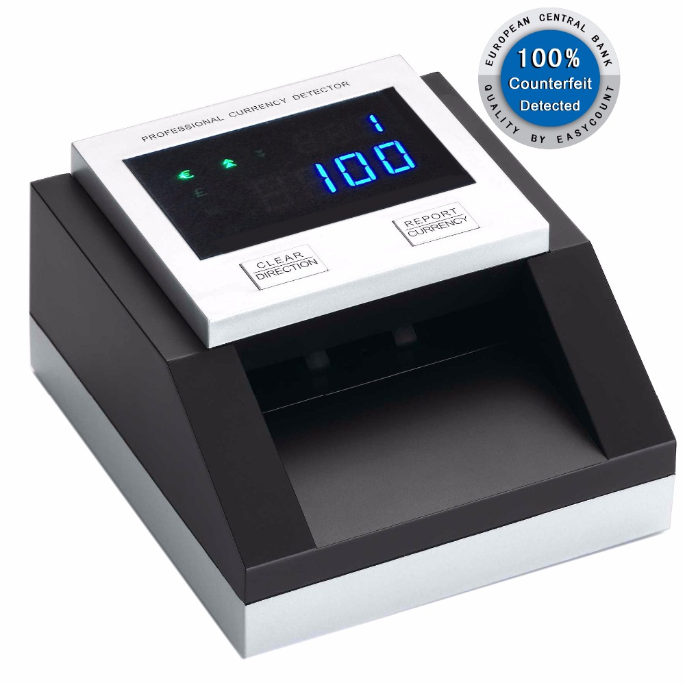 "EC350 Professional Counterfeit Money Detector ""4 Way Insertion"" Multi Currency Detector"