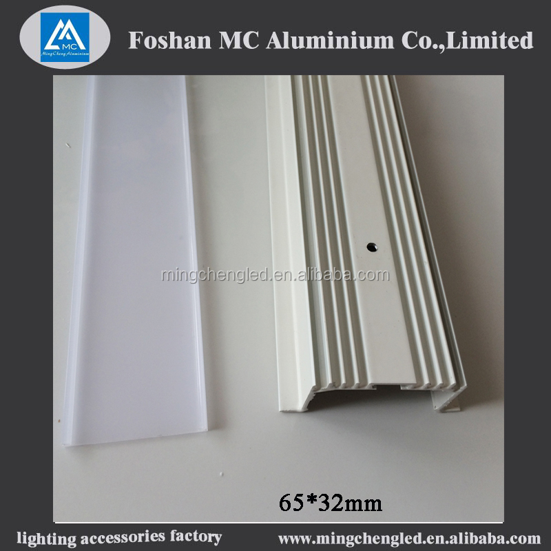 indoor and outdoor led aluminium profile with spring clips