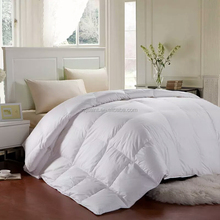 winter extra warm pure cotton white goose / duck feather duvet / comforter single / double super thick down blanket / quilt