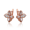 92018 Xuping Fashion Color Women Jewelry Latest Fashion Rose Gold Plated Earring