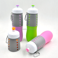2015 Latest Design Light Portable Silicone Foldable Water Bottle Sport Products