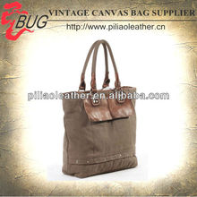 2013 Latest Vintage Washed Canvas Tote Bags/Shopping Bag/Shopper Bag