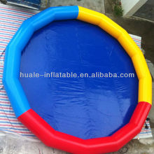 Hot sale three colours rounded giant inflatable pool ,inflatable padding pool
