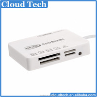SD/MS/M2/TF Card Reader + 3 port USB HUB Connection Kit for iPad and iphone