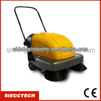 2015 Battery powered hand push asphalt road sweeper / concrete floor cleaning machine - SIECC