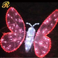 Beautiful led butterfly light sculpture for park christmas decoration