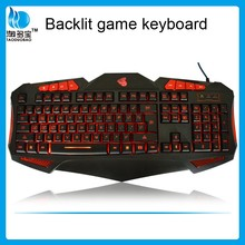 gaming keyboard Led backlights multimedia wired OEM laser keyboard gamer