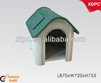 Assemble plastic dog house with window