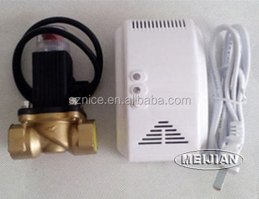 High sensitive stand alone lpg gas leak detector price with shut-off valve