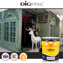 Good anti mildew and algae resistant Elastic flat coated exterior wall paint