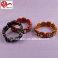 OEM orders competitive price wooden bracelet with different religious epoxy pictures
