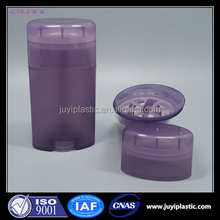 15ml 50ml 75ml Fashion Bottom Filling Twist Up Plastic Ovar Deodorant Stick Tube Container