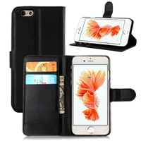Litchi PU Leather Flip Phone Case Cover for Apple iPhone 6S
