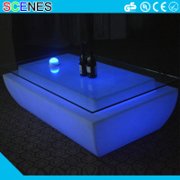Color change plastic night club light up glowing long led bar table