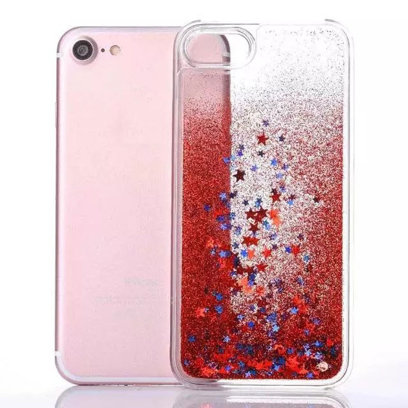 Phone Case Glitter Liquid Water Cover Back Case for iPhone 7 for 7 plus Quicksand Phone Case for iPhone 6 for Samsung Galaxy on5
