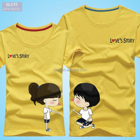 Man and Woman T-shirts Valentine Lover couple clothes Short Sleeve Casual Summer Cartoon love cute couple t-shirt for lovers