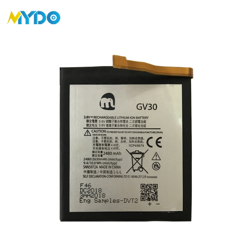 OEM 3.8v li-ion cell phone battery for motorola <strong>Z</strong>/GV30 2630mAh