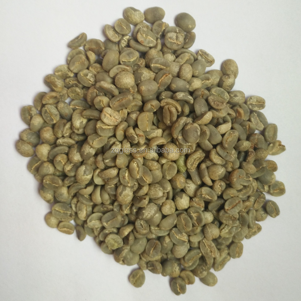 USD3410 2017 Crop Washed or Sun Dried Unroasted Raw Chinese Yunnan Baoshan Arabica Green Coffee Beans Screen 17 to 18 AA Grade