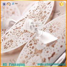Party favor wedding invitations, laser cut latest wedding card designs