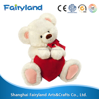 High demand export products Valentine's Day White Bear plush toy buy direct from china manufacturer