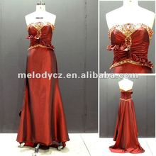 Royal crown pattern extravagant beading expensive bridal dress for the mother