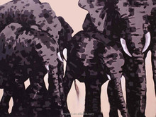 African animal painting elephant picture for kids room