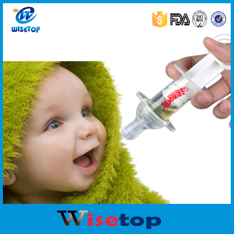 Baby Squeeze Medicine Dropper Dispenser Baby Pacifier Needle Feeder Feeding Flatware Utensils 2016 New Avent Pacifiers Soothie
